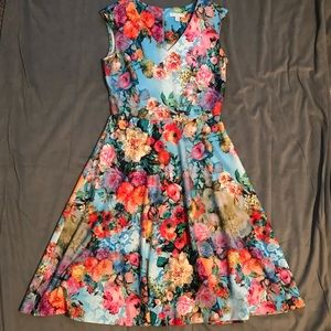New York and Company Floral Dress Like New Size M